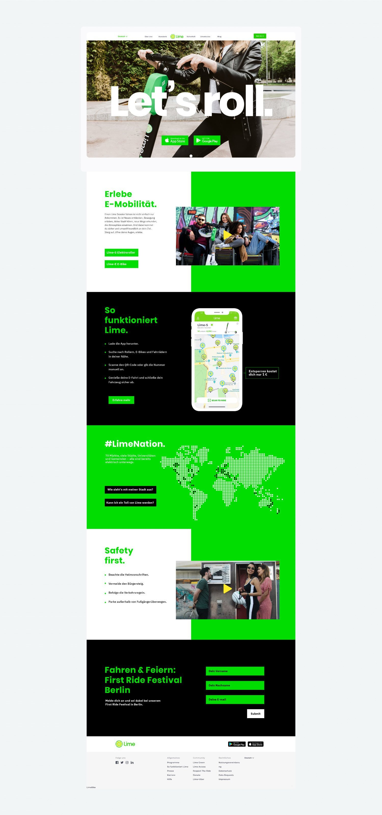 Lime Landing Page